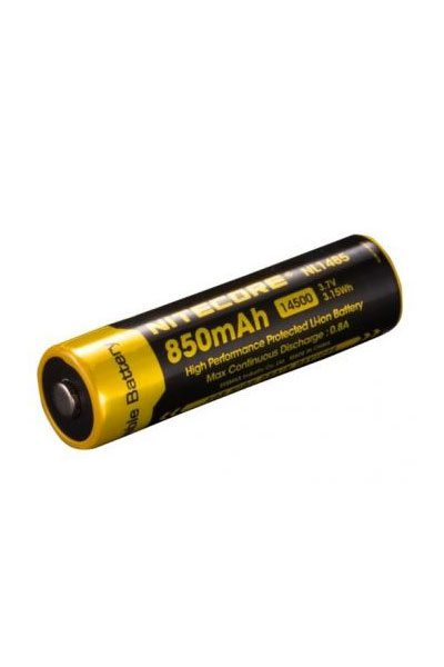 Nitecore 1x 14500 battery (850 mAh, Rechargeable)