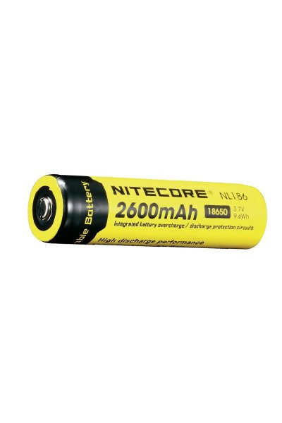 Nitecore 1x 18650 battery (2600 mAh, Rechargeable)
