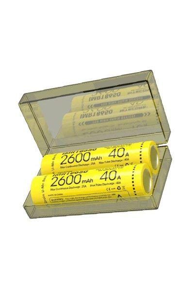 Nitecore 2x 18650 battery (2600 mAh, Rechargeable)