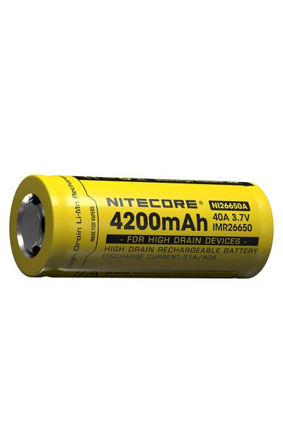 Nitecore 1x 26650 battery (4200 mAh, Rechargeable)