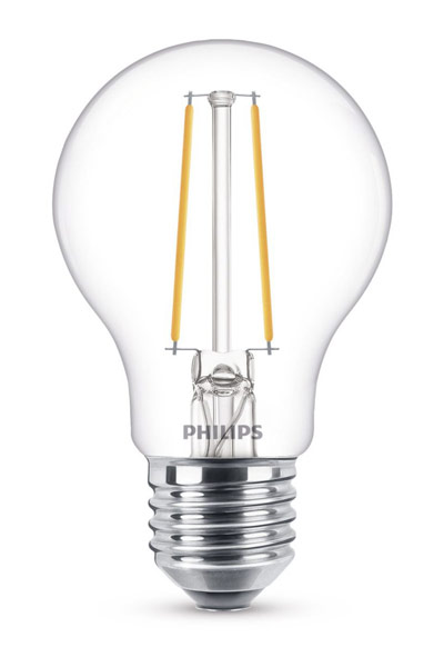 Philips E27 LED Lamp 5,5W (40W) (Pear, Clear, Dimmable)