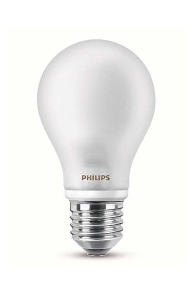 2x Philips E27 LED Lamp 4,5W (40W) (Pear, Frosted)