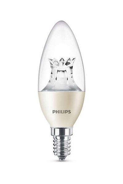 Philips E14 Lâmpadas LED 4W (25W) (Vela, Transparente, Regulável)