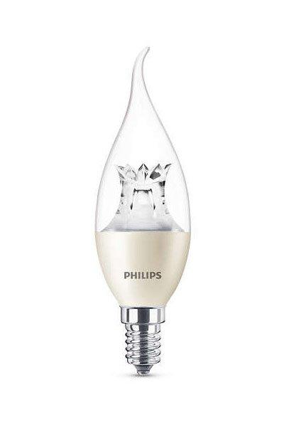 Philips E14 Lâmpadas LED 6W (40W) (Vela, Transparente, Regulável)