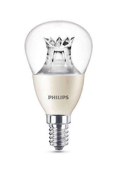 Philips Becuri LED E14 6W (60W) (Lustră, Transparent, Reglabil)