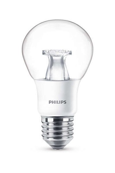 Philips E27 LED Lamp 6W (40W) (Pear, Clear, Dimmable)