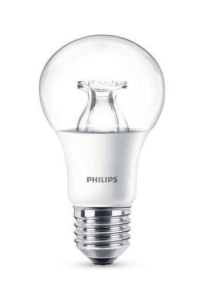 Philips E27 LED Lamp 8,5W (60W) (Pear, Clear, Dimmable)