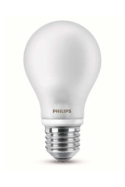 2x Philips E27 LED Lamp 7W (60W) (Pear, Frosted)
