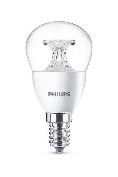 Philips E14 Lâmpadas LED 5W (40W) (Bulbo, Transparente)