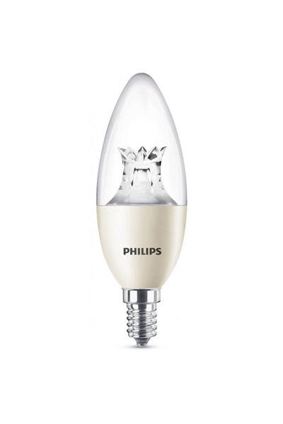 Philips Becuri LED E14 8W (60W) (Lumânare, Transparent, Reglabil)