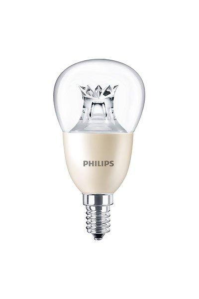 Philips E14 Lâmpadas LED 8W (60W) (Bulbo, Transparente, Regulável)