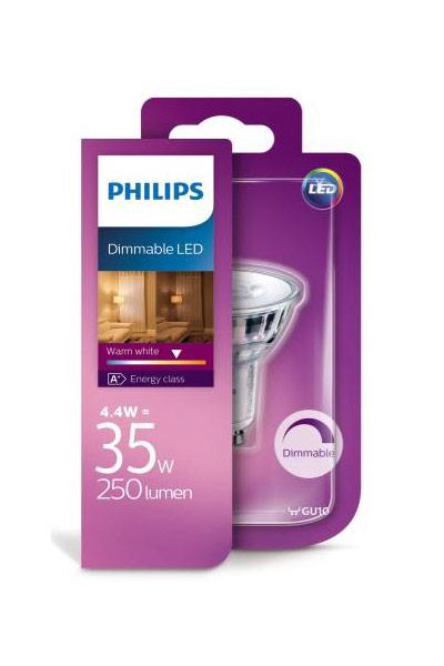 Philips GU10 Lámparas LED 4W (35W) (Punto, Regulable)