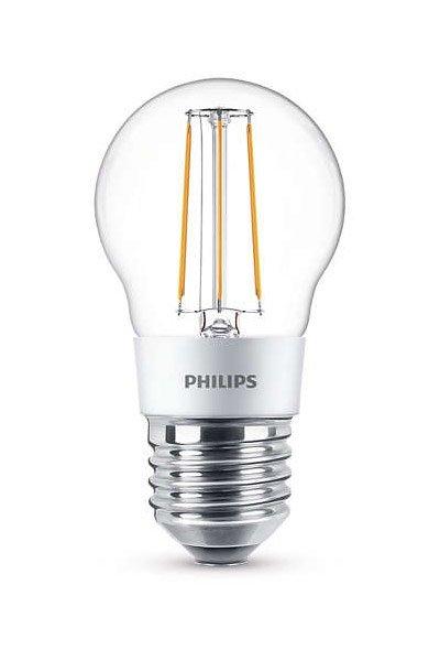 Philips Filament E27 Светодиодные лампы 5W (40W) (Люстра, Прозрачный, Регулировка яркости)