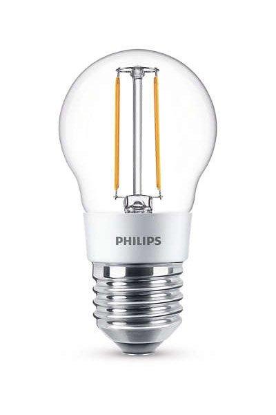 Philips Filament E27 Светодиодные лампы 3W (25W) (Люстра, Прозрачный, Регулировка яркости)