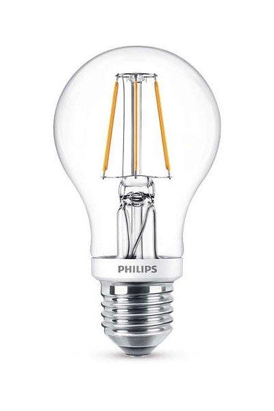 Philips Filament E27 LED lampen 5W (40W) (Birne, Klar, Dimmbar)