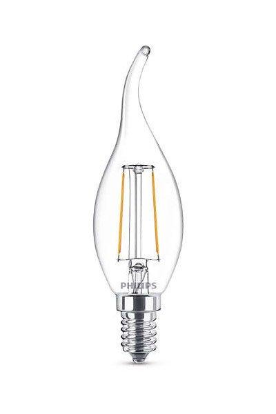 Philips Filament E14 Lâmpadas LED 2W (25W) (Vela, Transparente)