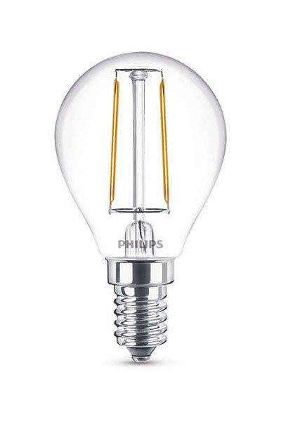 Philips Filament E14 Lâmpadas LED 2W (25W) (Bulbo, Transparente)