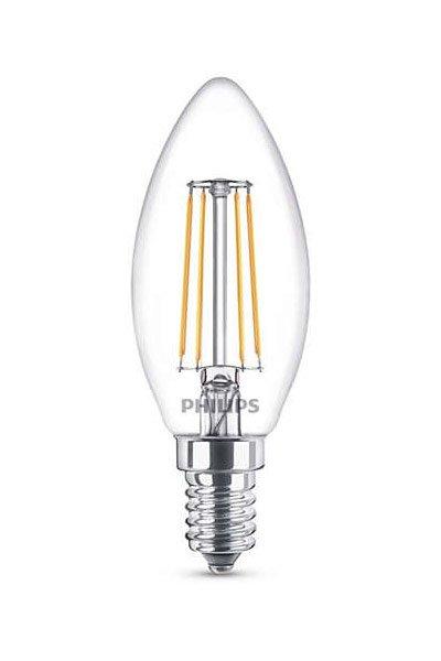 Philips Filament E14 Lâmpadas LED 4W (40W) (Vela, Transparente)