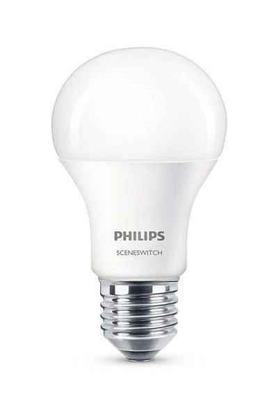 Philips E27 LED Lamp 9,5W (60W) (Pear, Frosted)