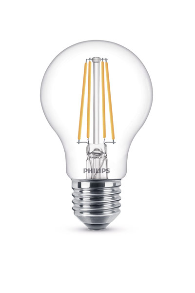 Philips E27 LED Lamp 8W (60W) (Pear, Clear, Dimmable)