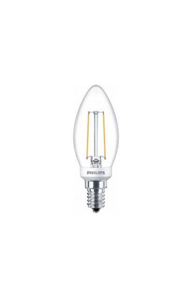 Philips E14 Lâmpadas LED 2,7W (25W) (Vela, Transparente, Regulável)