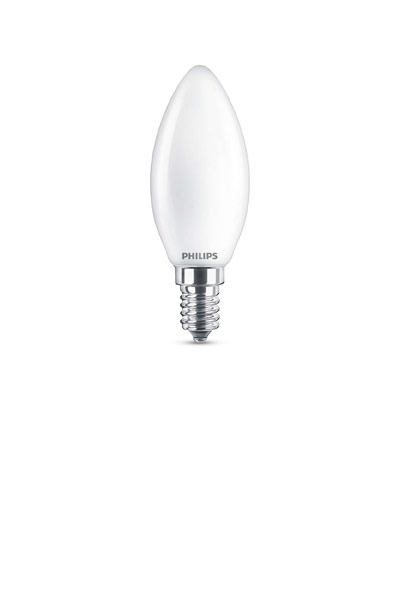 Philips Becuri LED E14 4,3W (40W) (Lumânare, Mat)