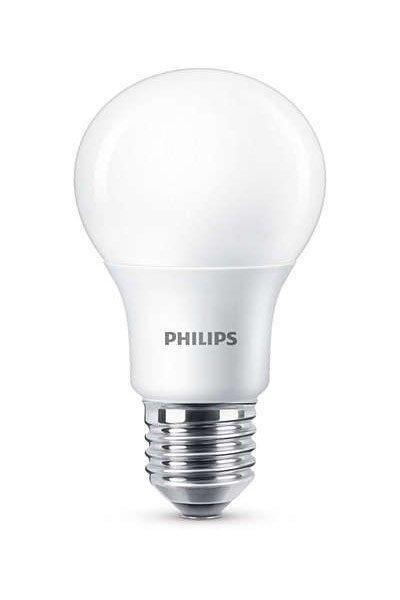 Philips E27 Светодиодные лампы 7,5W (60W) (Груша, Матовый, Регулировка яркости)