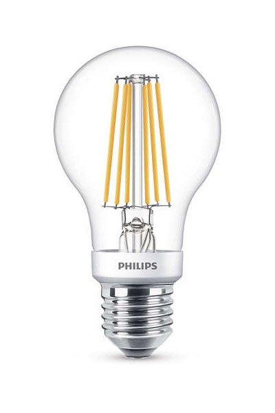 Philips Filament Becuri LED E27 3W (30W) (Pară, Transparent)