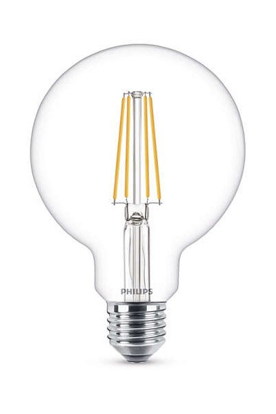 Philips Filament E27 LED Lamp 7W (60W) (Globe, Clear)