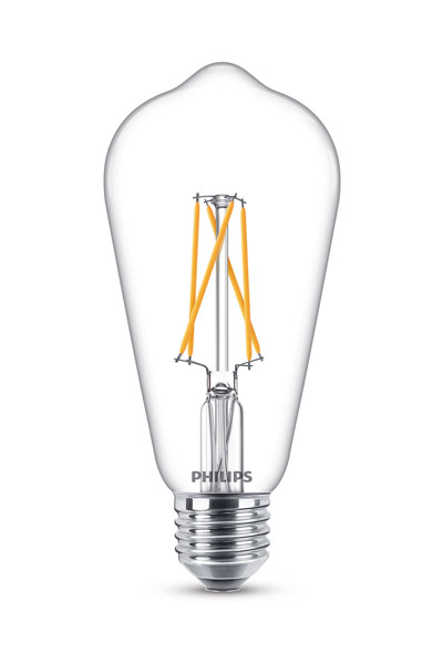 Philips E27 LED Lamp 8,5W (60W) (Clear, Dimmable)