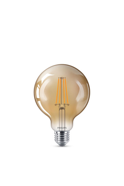 Philips E27 LED Lamp 8W (50W) (Globe, Clear, Dimmable)