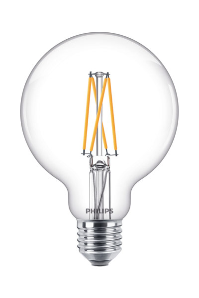 Philips E27 LED Lamp 9W (60W) (Globe, Clear, Dimmable)