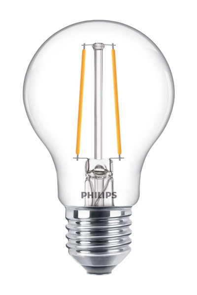 Philips E27 LED Lamp 2,2W (25W) (Pear, Clear)