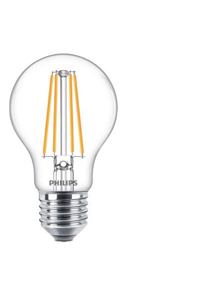 Philips E27 LED Lamp 8,5W (75W) (Pear, Clear)