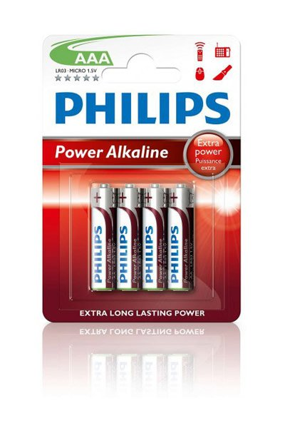 Philips 4x AAA Batterie