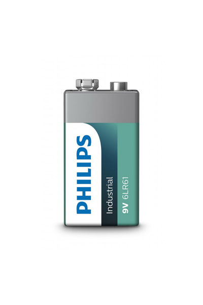 PHILIPS Plus Alkaline 10x 9V block battery