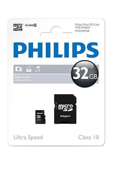 Philips Micro SD (SDHC, Class 10) 32 GB Mälu / ladustamine