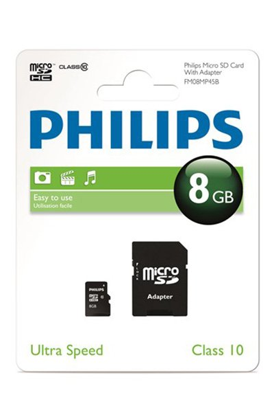 Philips Micro SD (SDHC, Class 10) 8 GB Mälu / ladustamine