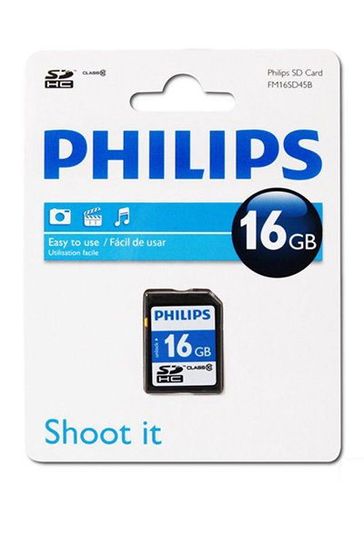 Philips SD (SDHC, Class 10) 16 GB Speicherkarte / USB-sticks