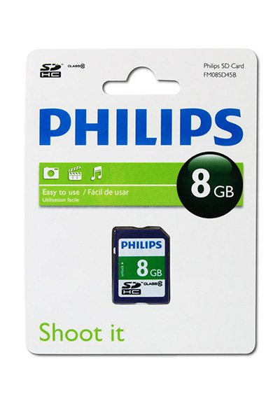 Philips SD (SDHC, Class 10) 8 GB Speicherkarte / USB-sticks