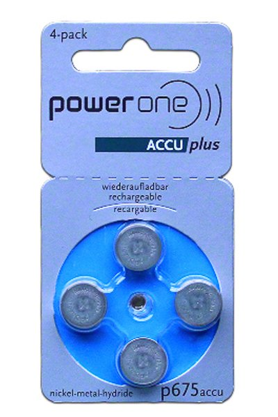 Powerone 4x PR44 Coin cell (Blue, 70 mAh)