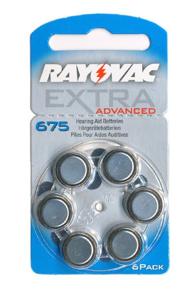 Rayovac 6x PR44 Coin cell (Blue, 650 mAh)