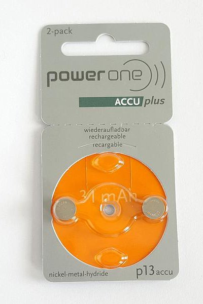 Power One 2x PR48 Knopfzelle (orange)