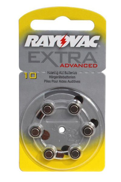 Rayovac 6x PR536 Coin cell (Yellow)