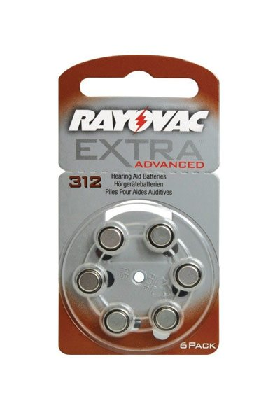 Rayovac 6x PR48 Coin cell (Orange)