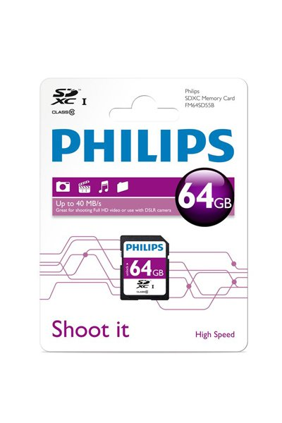 Philips SD (SDXC, Class 10) 64 GB Speicherkarte / USB-sticks