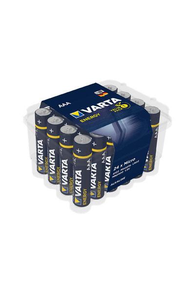 Varta 24x AAA Batterie