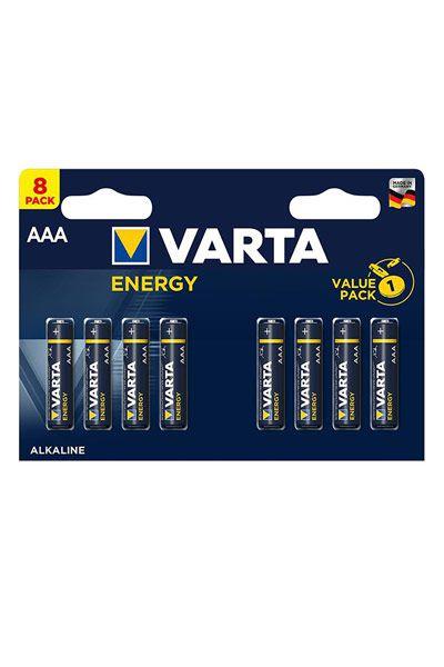 Varta 8x AAA battery