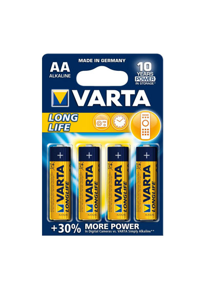 Varta 4x AA battery