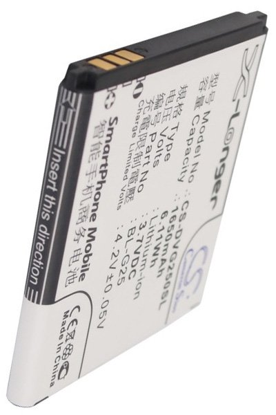 BTC-DVG250SL Akku (1650 mAh)